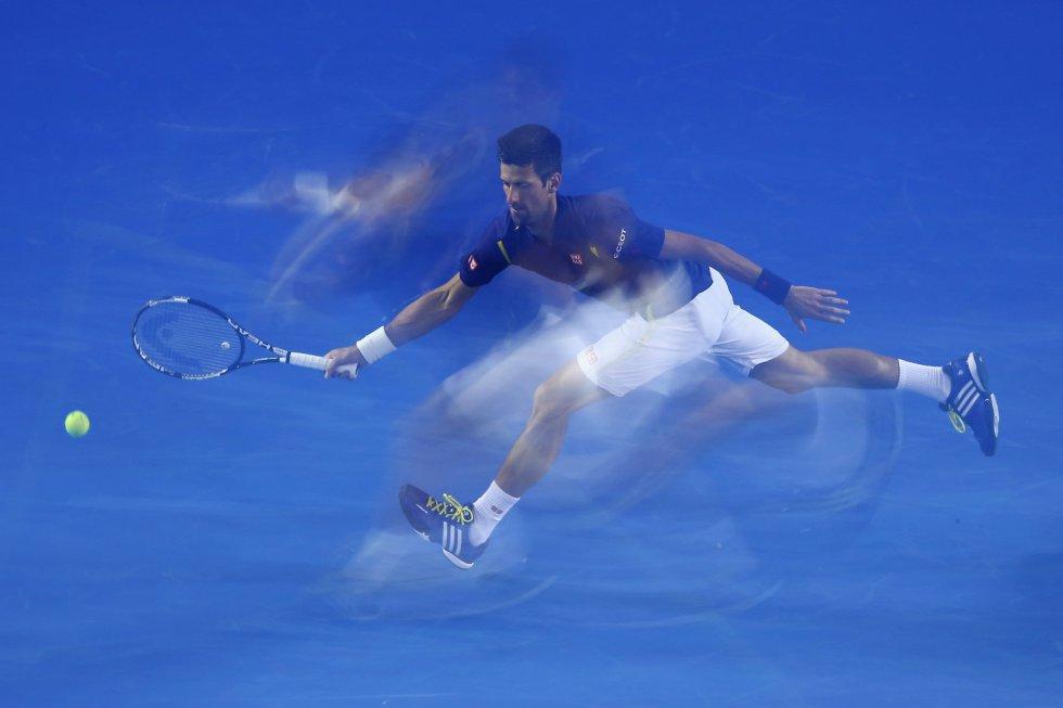 El tenista Novak Djokovic en el Open de Australia en Melbourne.