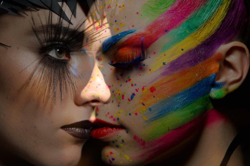 Modelos maquilladas por MAYBELLINE New York en Berlín.