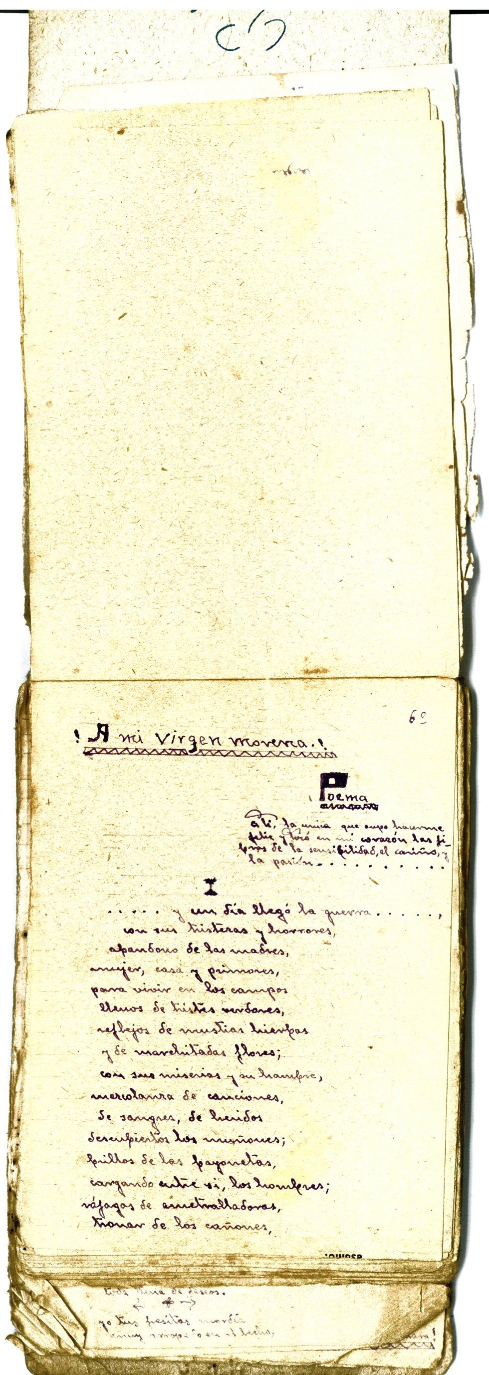 El poemario de Antonio para María Roa