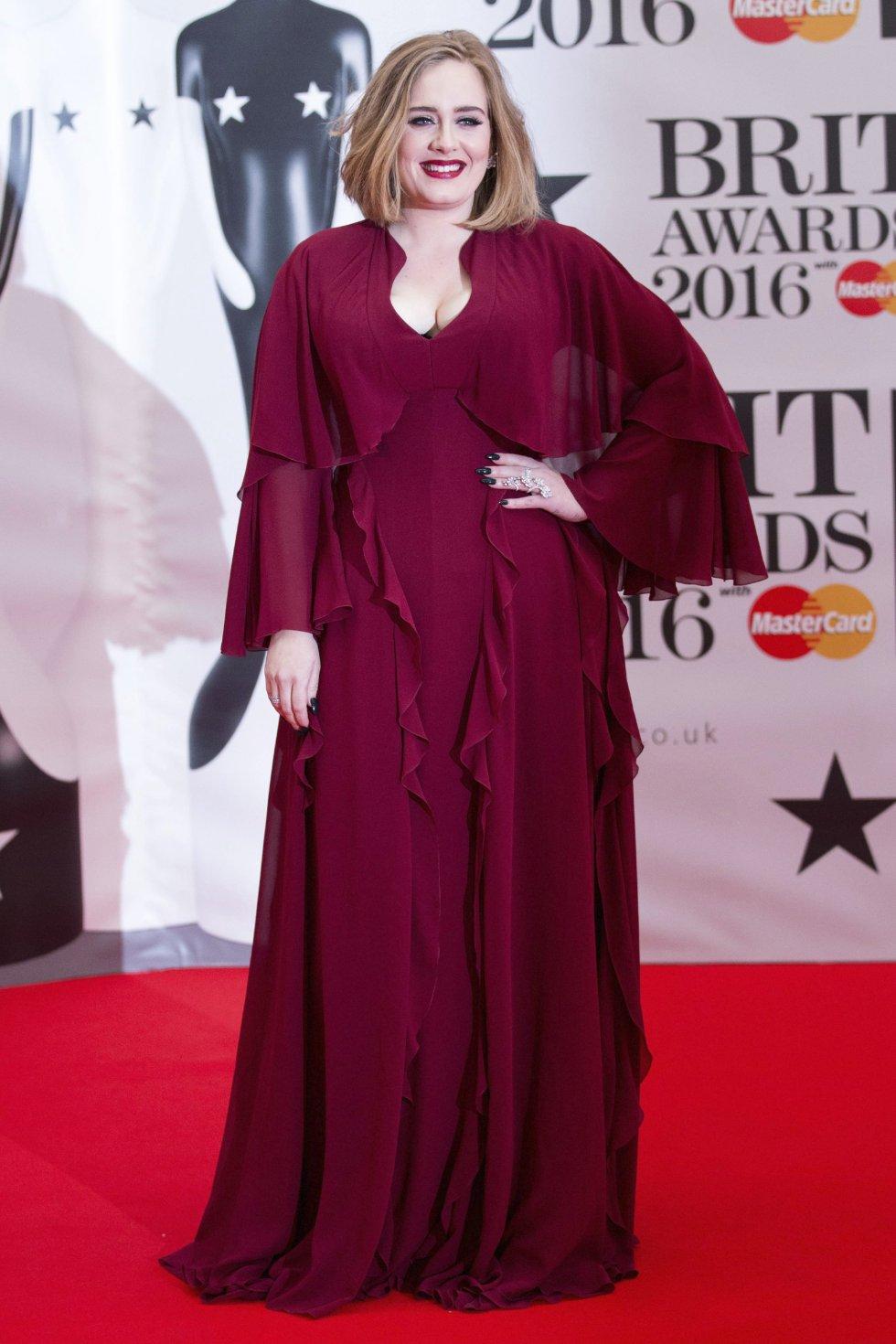 La cantante británica Adele.
