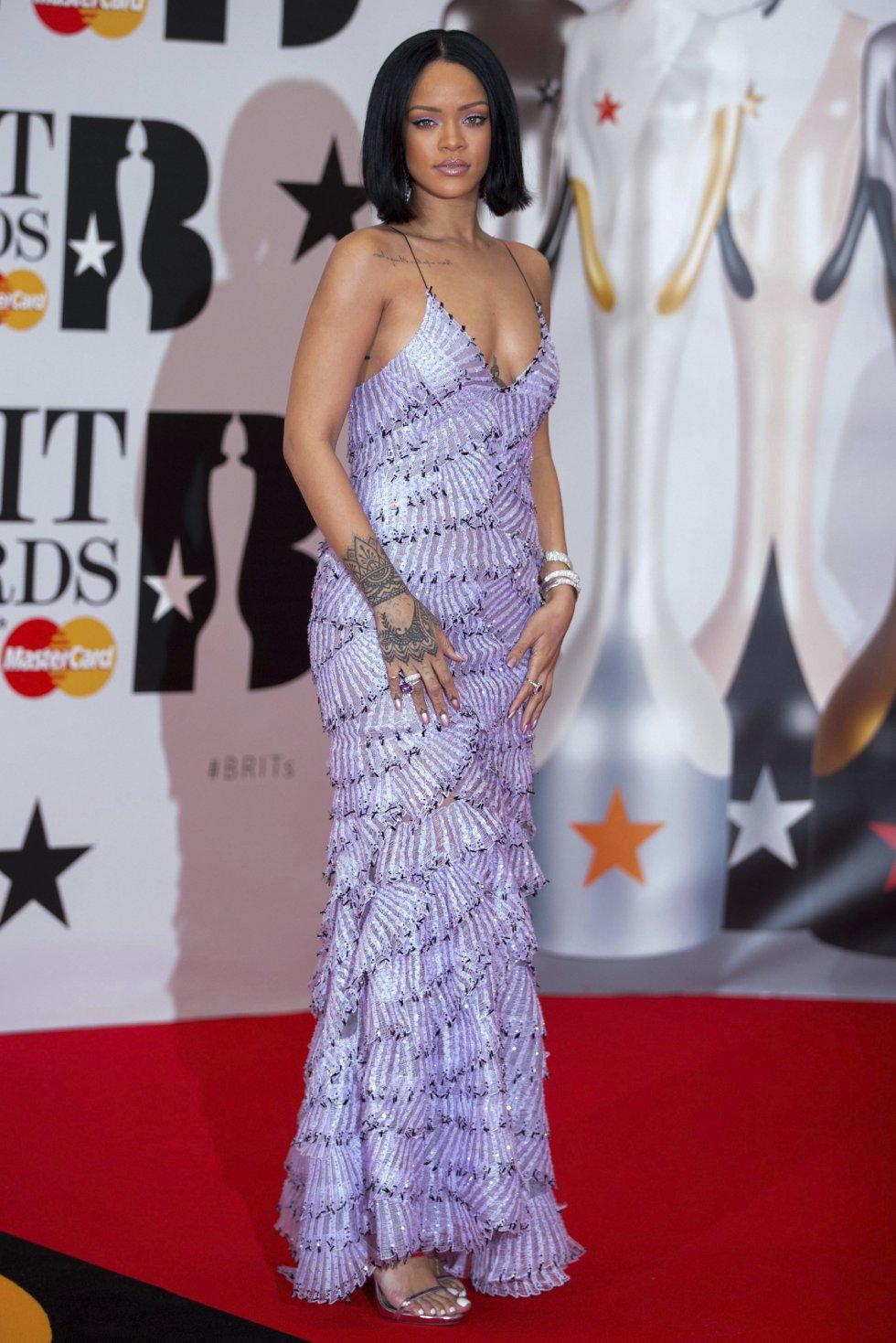 La cantante de Barbados Rihanna.