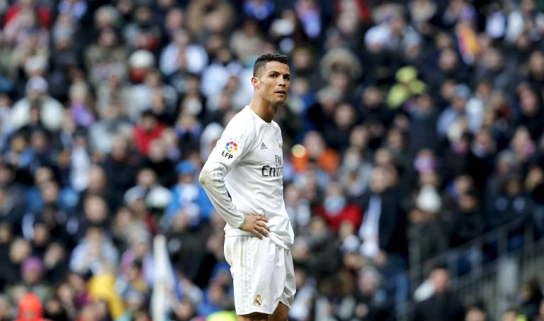 Cristiano Ronaldo en un lance del pasado Real Madrid-At.Madrid