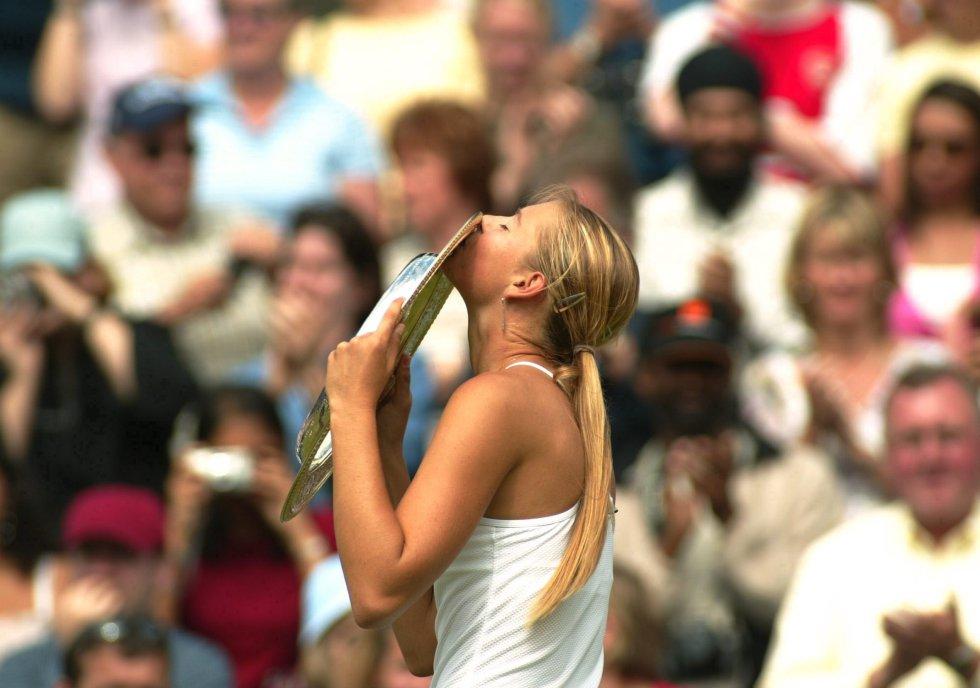 La tenista rusa ganó Wimbledon en el año 2004
