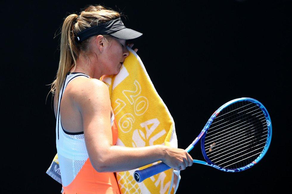 Sharapova en la última edición del Open de Australia, edición en la que dio positivo