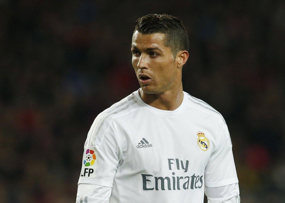 Cristiano Ronaldo durante el Clásico.