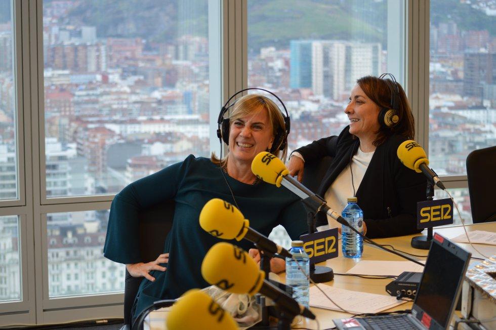 Gemma Nierga y Pepa Bueno en directo desde Bilbao