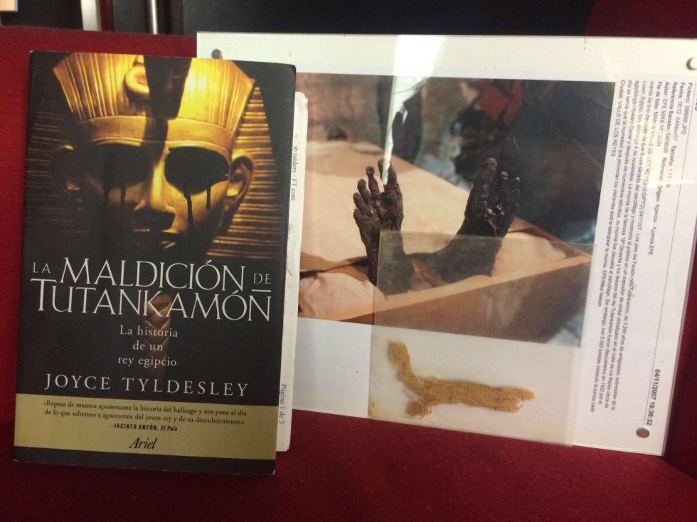 Venda de momia y 'La maldición de Tutankamón'
