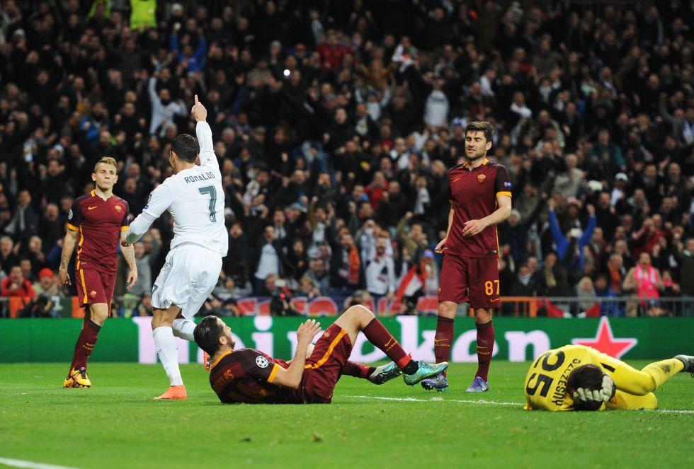 Los goles del luso, cómo no, y de James, sentenciaron la eliminatoria ante una Roma inofensiva ante Navas