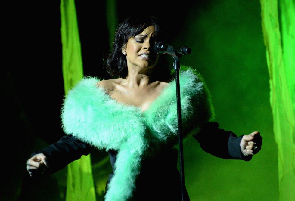 Rihanna, durante su actuación en los premios Billboard de la música.