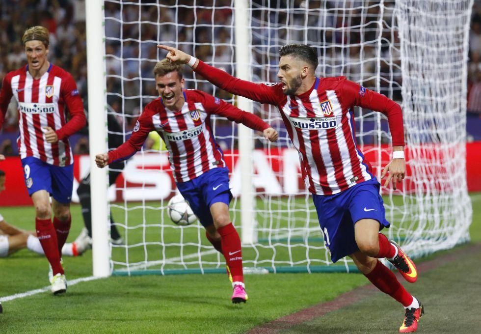 Así celebró Carrasco el gol del empate en el 79'