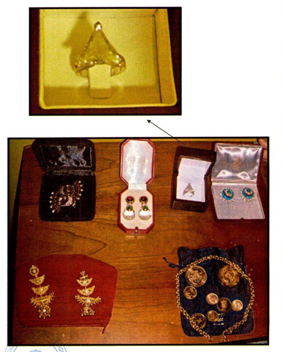 Miguel Trevor Langdon tenía en su caja fuerte numerosas joyas.