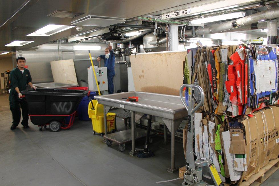 Sala de gestión de residuos.