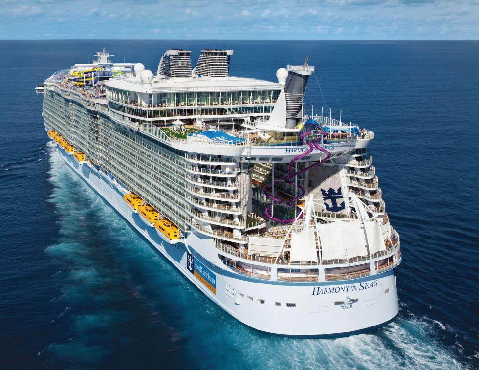 Imagen aérea del 'Harmony of the seas'