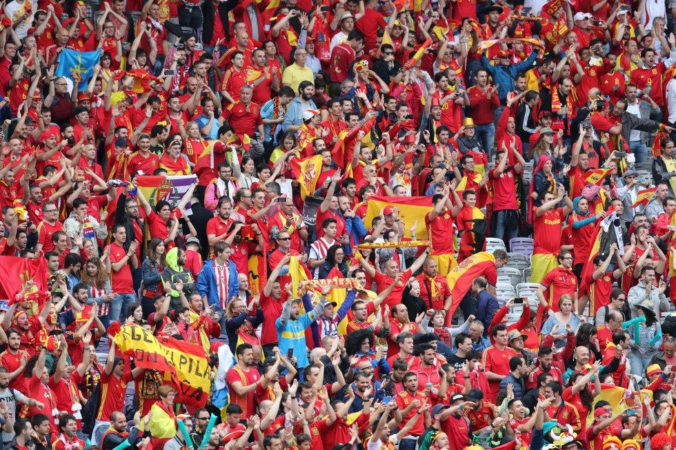 La afición española en Toulouse.