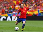 TOULOUSE, FRANCE - JUNE 13: Andres Iniesta of Spain kicks the ball during the UEFA EURO 2016 Group D match between Spain and Czech Republic at Stadium Municipal on June 13, 2016 in Toulouse, France. (Photo by David Ramos/Getty Images)