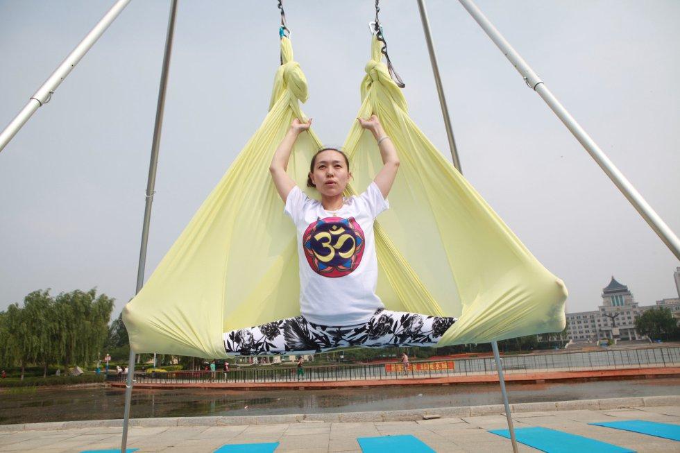 Día Internacional del Yoga in Changchun (China).