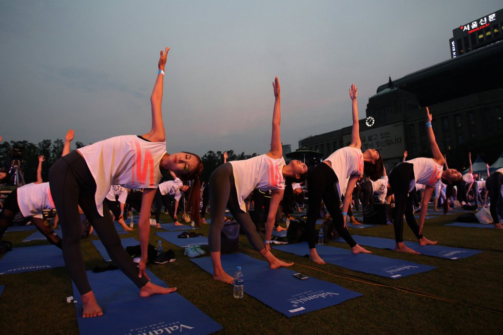 Día Internacional del Yoga en Seúl, Corea del Sur