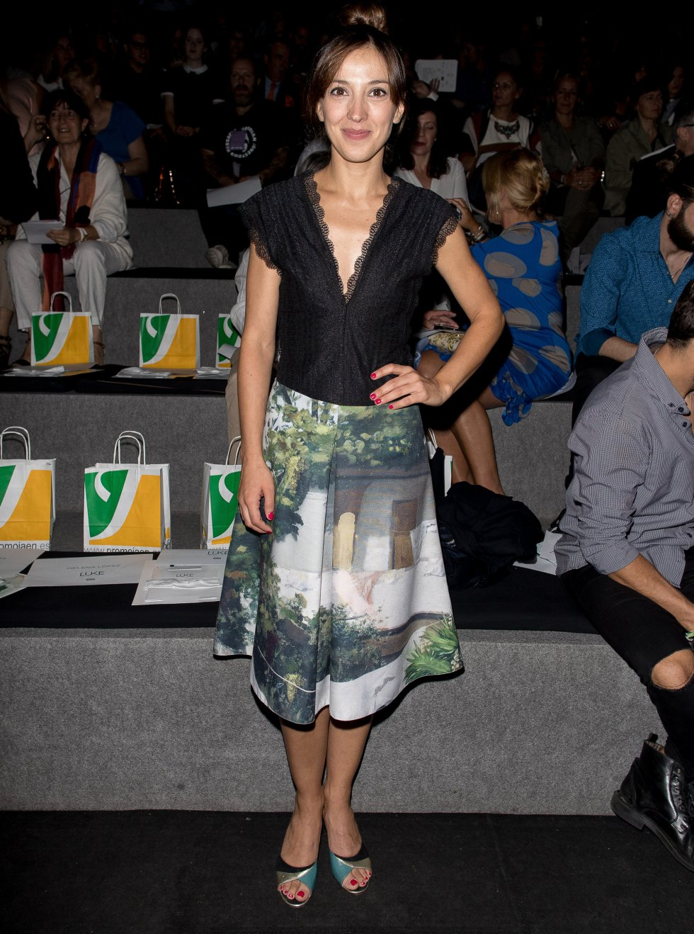 Carolina Lapausa durante la Mercedes-Benz Fashion Week Madrid.