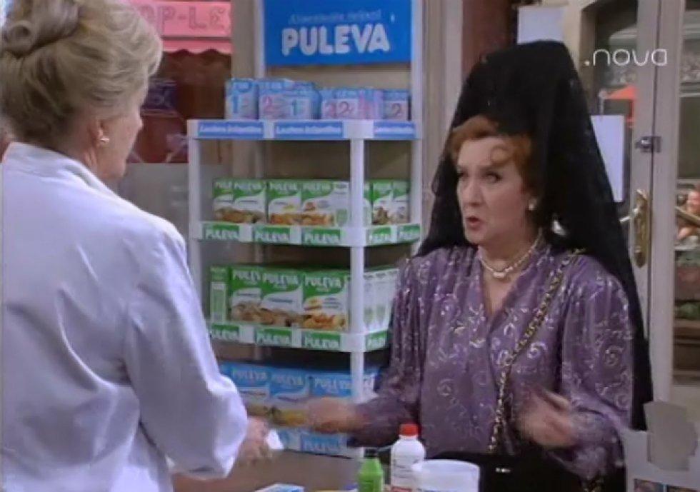 Amparo Valle en una de sus intervenciones en la serie 'Farmacia de guardia' (1991 - 1995) de Antena 3.