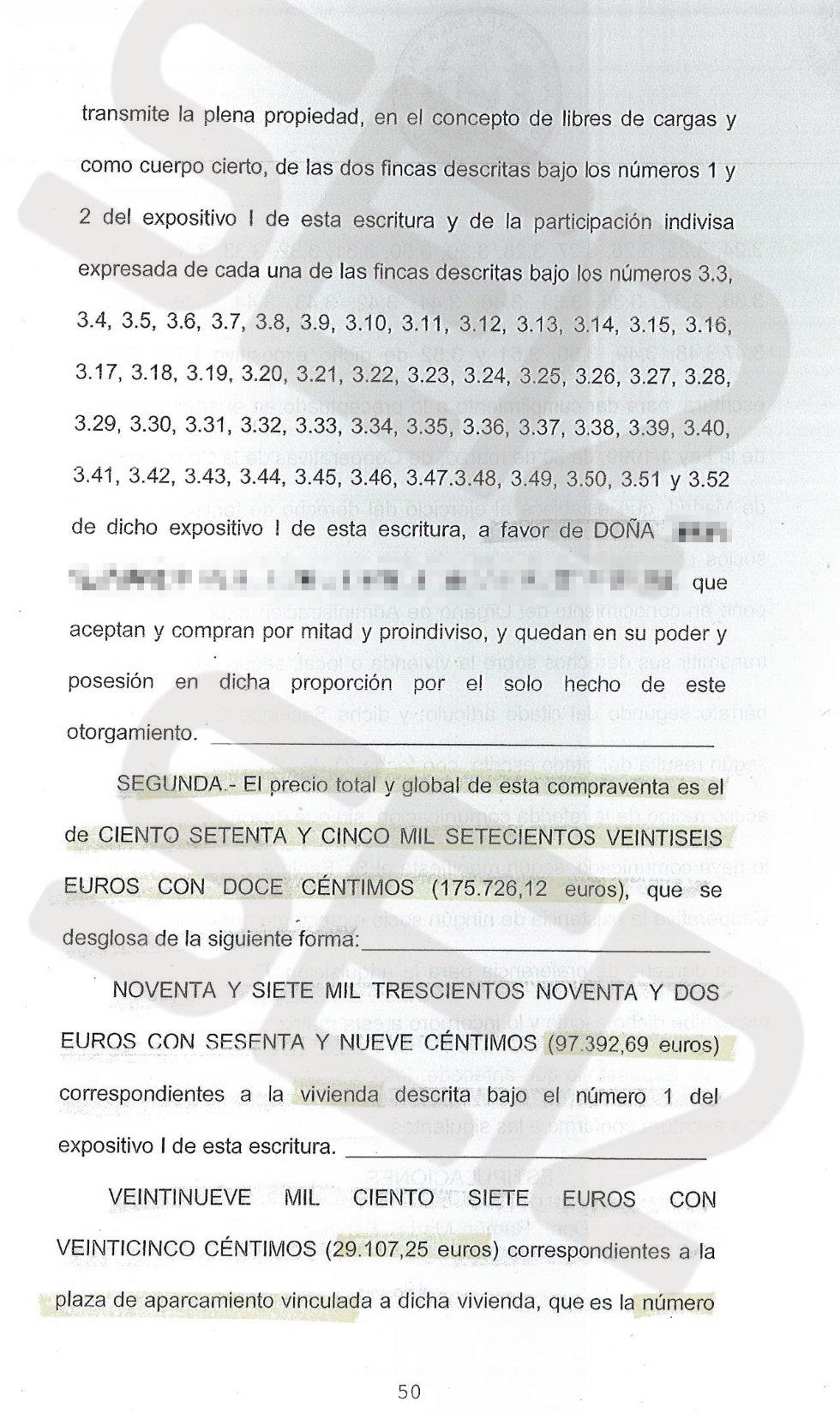 Ramón Espinar vendió la vivienda por casi 176.000 euros. Habían pasado nueve meses desde la compra (146.224 euros). Con ello obtuvo una plusvalía de 30.000 euros.