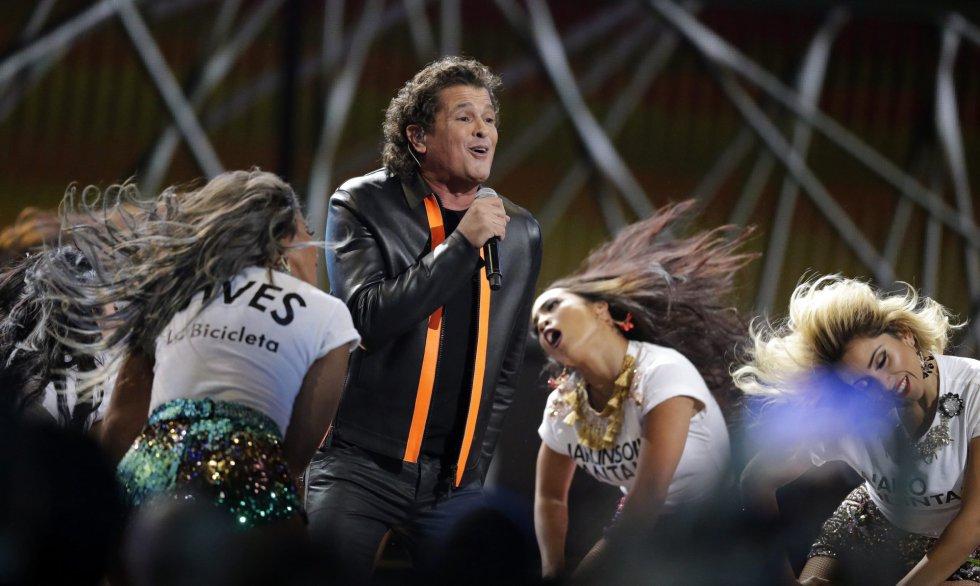 El cantante Carlos Vives, durante los premios Grammy Latinos.