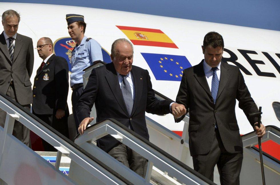 El rey emérito de España, Juan Carlos, llega a La Habana (Cuba).