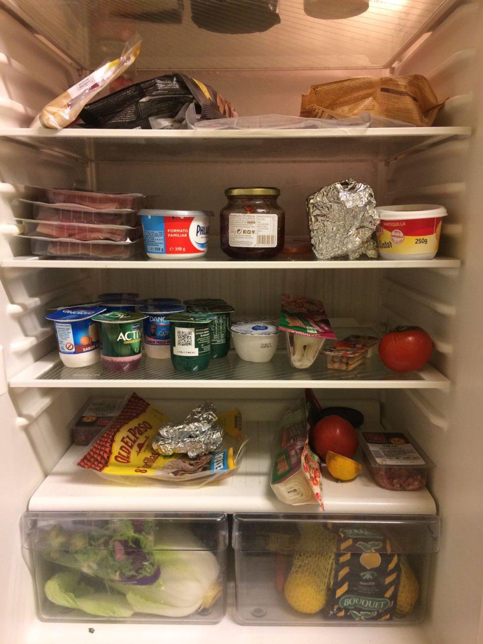 Este es el interior del frigorífico de Gemma Nierga.