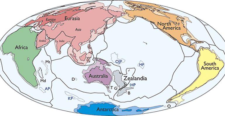 El nuevo continente de Zealandia.