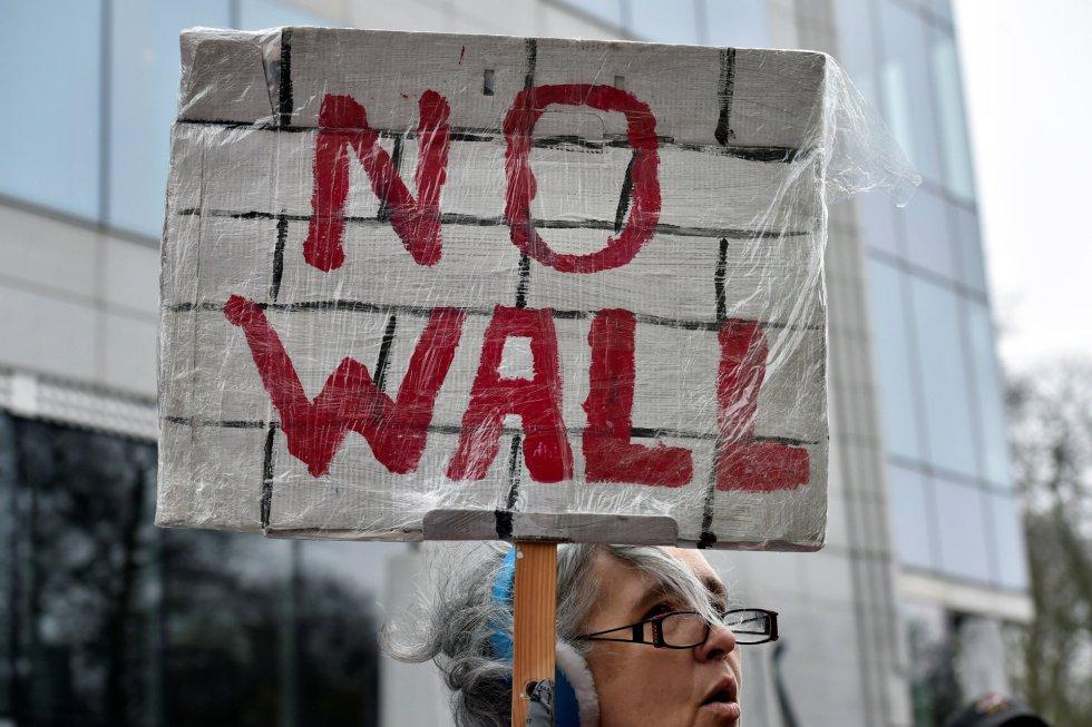 Protestas contra el muro que Donald Trump quiere levantar entre EEUU y México.
