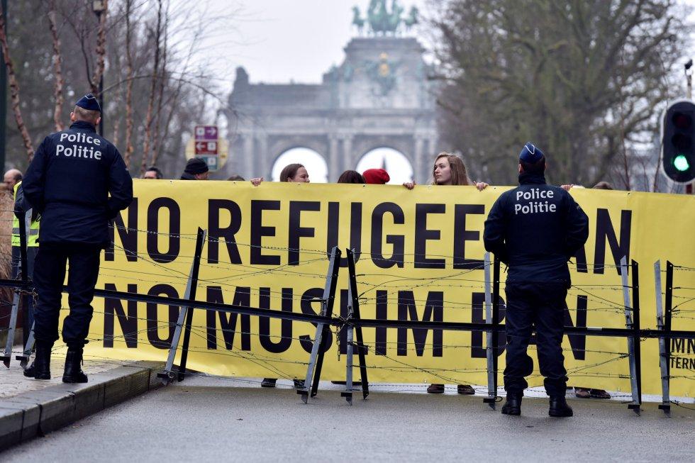 Críticas a la política migratoria de Donald Trump en Bruselas.