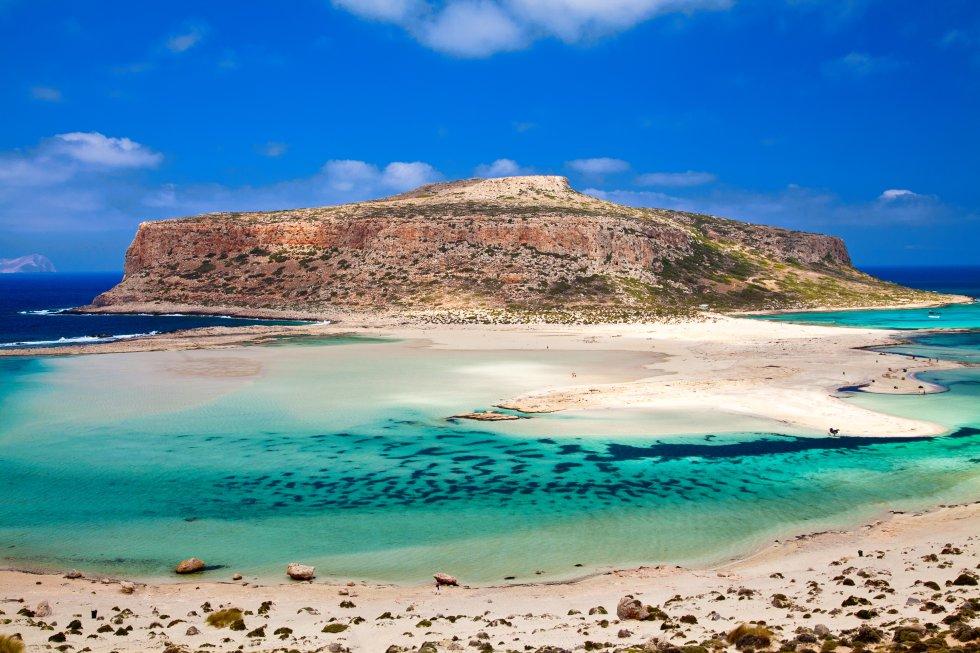 Playa y laguna de Balos (Grecia)