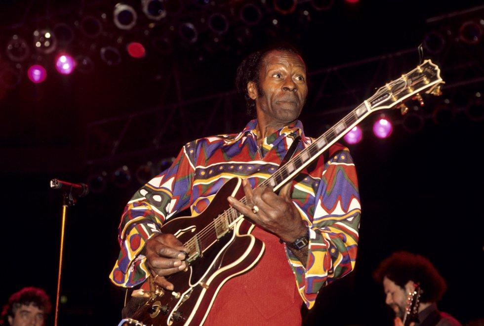 Chuck Berry, en el Madison Square Garden de Nueva York.