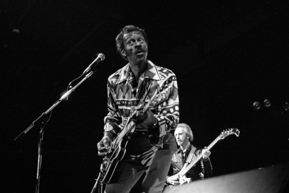 Chuck Berry, en 1987 en Nueva York.