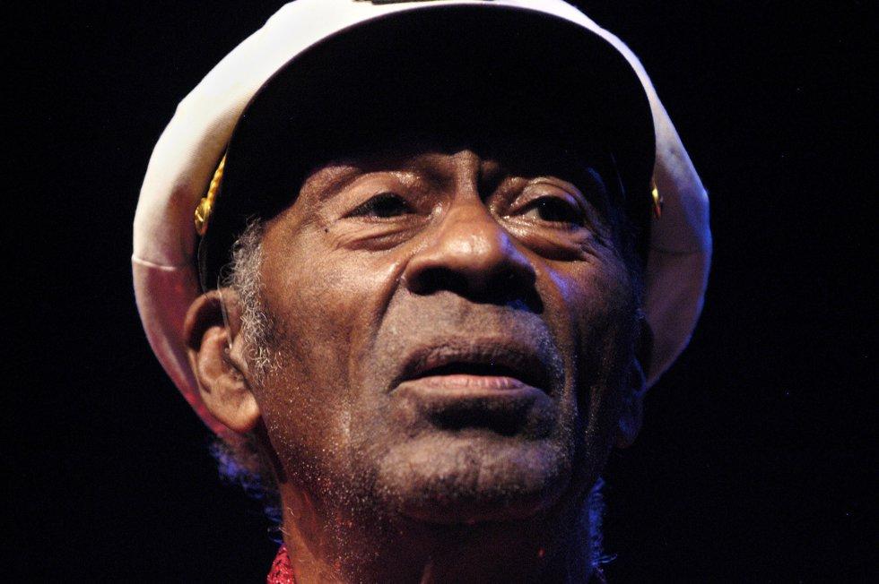 Chuck Berry en una actuación de enero de 2011 en Chicago, Illinois.