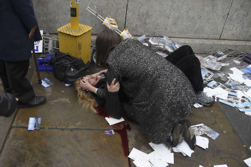 Otra mujer herida después del tiroteo.