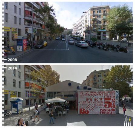 Bacelona 'Before and After'.