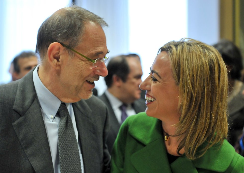 Carme Chacón junto a Javier Solana, en una foto de noviembre de 2009