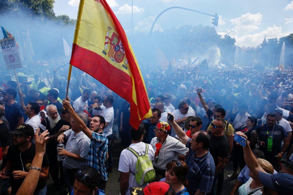La manifestación en Madrid ha tenido un amplio seguimiento