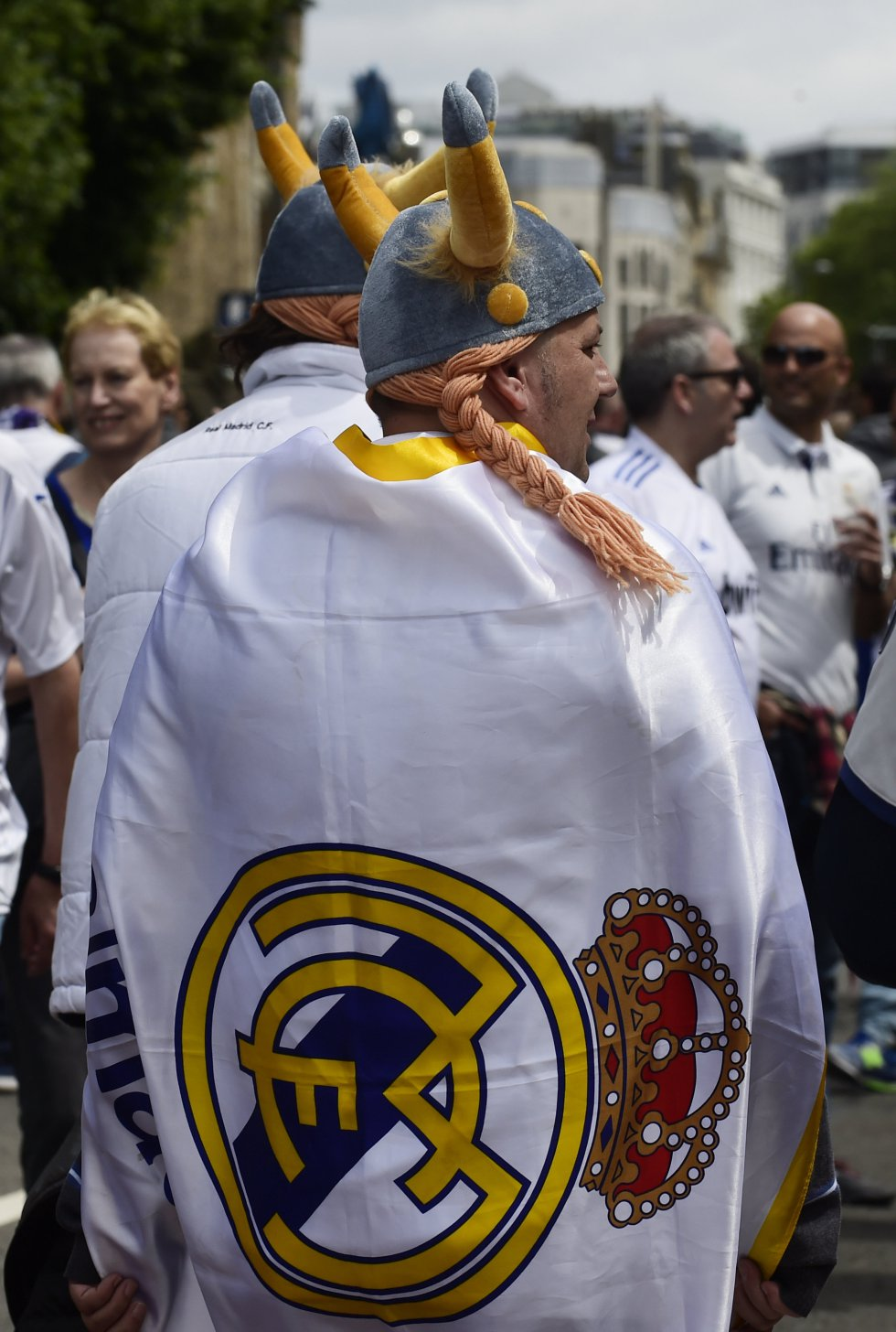 Muchos aficionados del Madrid ya están el Cardiff para apoyar a su equipoi en la final de la Champions League.