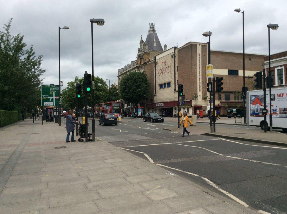Avenida Holloway, en la circunscripción de Islinghton North, la de Jeremy Corbyn