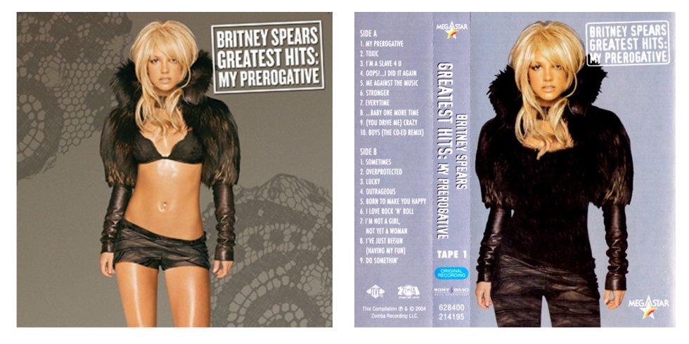 Britney Spears es una de las más damnificadas por los cambios. Esta es la nueva versión de su 'Greatest Hits'.