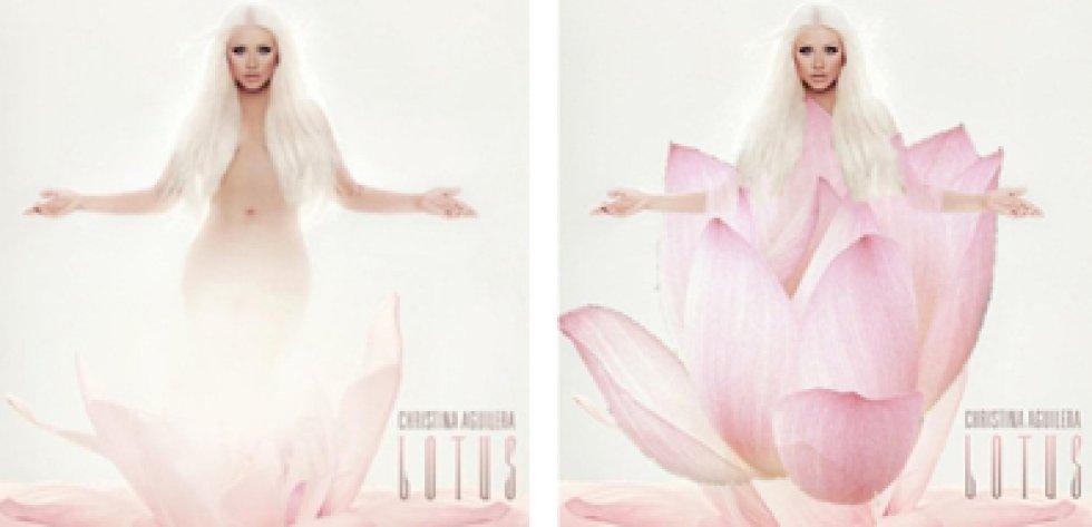 En 'Lotus', Christina Aguilera pasó a estar metida dentro de una flor.