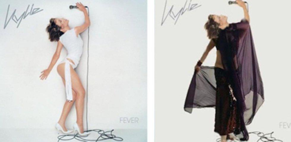 Y por último, estaba el caso de Kylie Minogue y su Fever. Allí la imagen de la cantante sufrió un retoque muy absurdo, dejando su cuello girado en una posición poco compatible.