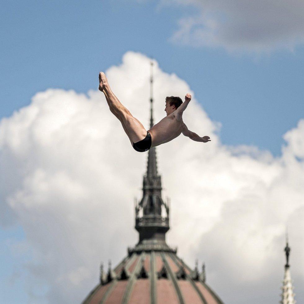 Los espectaculares saltos del mundial de natación en Budapest