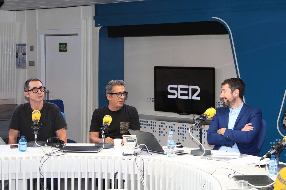 Toni Garrido, junto a Andreu Buenafuente y Berto Romero, que vuelven con 'Nadie sabe nada' cada sábado a partir de las 13 horas a la Cadena SER.