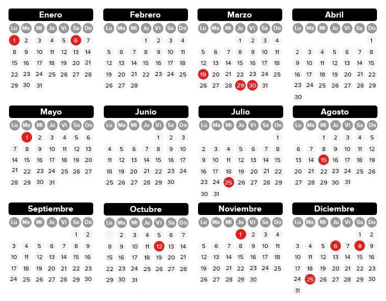 Calendario Festivo.Asi Sera El Calendario Laboral De 2018 Economia Cadena Ser