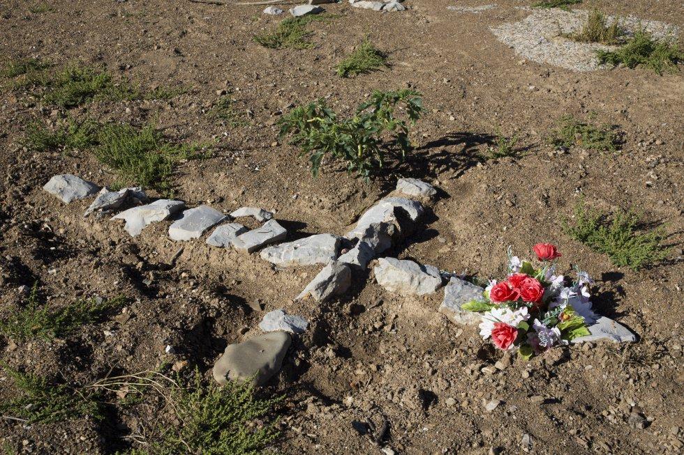 Efectos de la sequía en el embalse de Riaño (León). En la imagen el cementerio del antiguo Riaño, al descubierto por la bajada de las aguas.