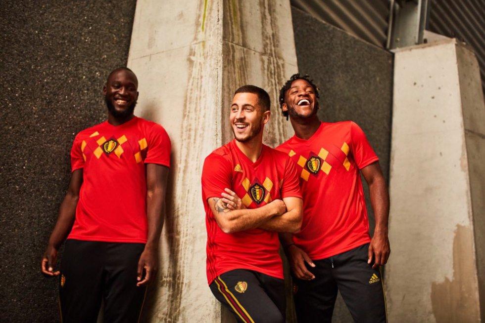 Bélgica también lleva rombos en la camiseta al igual que España