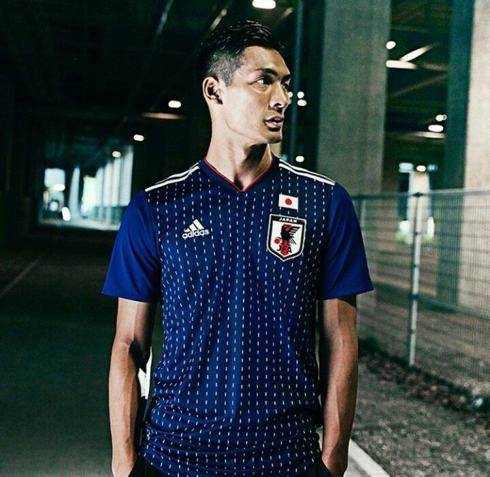 Japón es una de las selecciones que suele vestir camisetas más bonitas