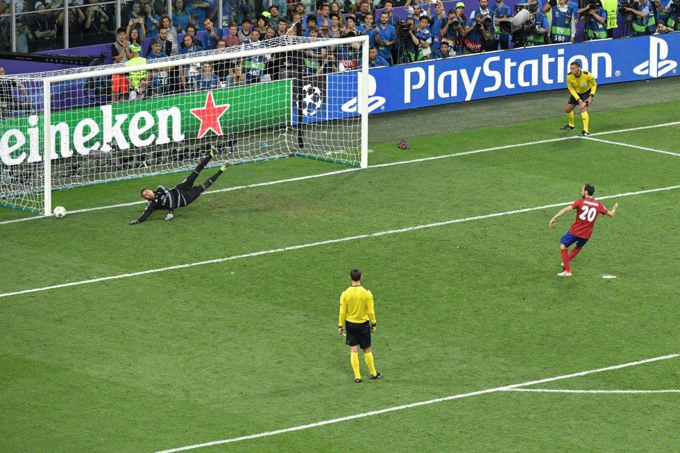 El penalti que Juanfran falló, el quinto del Atlético de Madrid, en la final de la Champions League celebrada en Milan. Posteriormente Cristiano Ronaldo marcaría el quinto y definitivo penalti para los blancos para ganar la Undécima